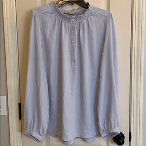 Loft Powder Blue Blouse